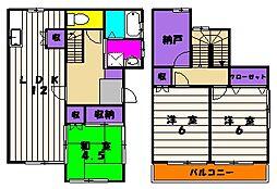 [テラスハウス] 神奈川県川崎市麻生区栗木3丁目 の賃貸【/】の間取り
