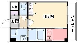 アーデン甲子園[5階]の間取り
