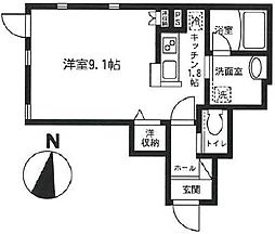 東京都世田谷区三軒茶屋2丁目の賃貸アパートの間取り