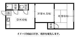 平山アパート[105号室]の間取り