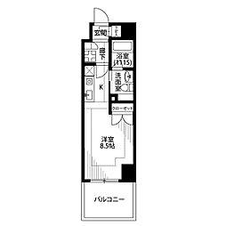 プレール・ドゥーク横浜SOUTH Maison Loir[605号室]の間取り
