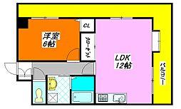 ふぁみーゆ足代北 206号室[2階]の間取り