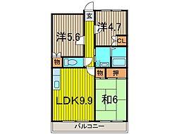 セブンハイツI[4階]の間取り