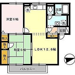 エスポワール米原 A棟[2階]の間取り