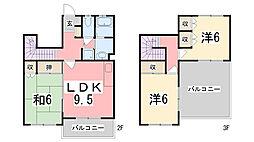 [タウンハウス] 兵庫県神戸市西区北別府1丁目 の賃貸【兵庫県 / 神戸市西区】の間取り