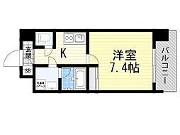 Pi´ece charmante Fukushima 7階1Kの間取り