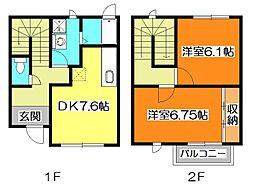 [テラスハウス] 東京都清瀬市竹丘2丁目 の賃貸【東京都 / 清瀬市】の間取り