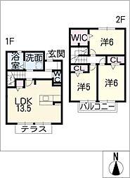 [タウンハウス] 愛知県豊田市挙母町4丁目 の賃貸【/】の間取り