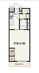 広島電鉄1系統 宇品5丁目駅 徒歩2分の賃貸アパート 2階1Kの間取り