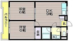 モトキハイツ[304号室]の間取り