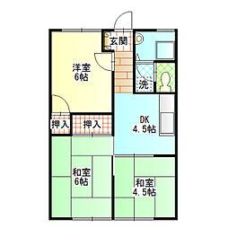 斉藤ハイツS[102号室]の間取り