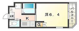 Cottage Dainichi 3階1Kの間取り