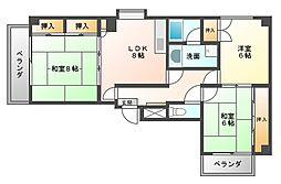 シャトレイズミ[2階]の間取り