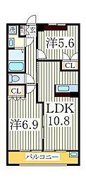 クレールヒルズ壱番館[1階]の間取り