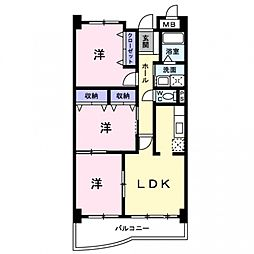 コンフォート総持寺[1階]の間取り