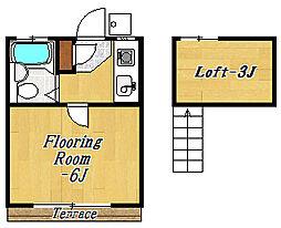 エクセル2[1階]の間取り