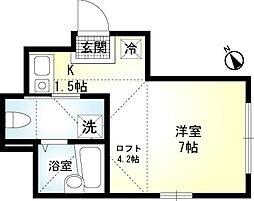 神奈川県横浜市南区中里3の賃貸アパートの間取り