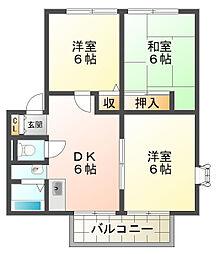 サンビレッジ須磨A棟[2階]の間取り