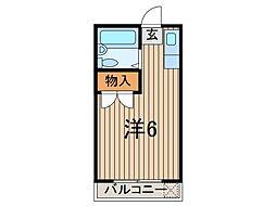 埼玉県蕨市中央2の賃貸マンションの間取り