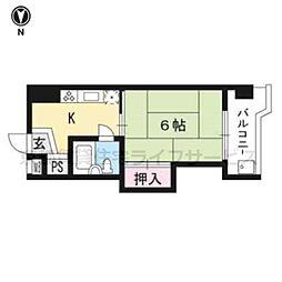 京都四条グランドハイツ 603号室[3階]の間取り