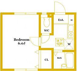 三ツ沢東町アパート2号棟[1階]の間取り