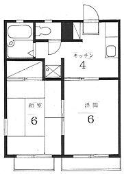 コーポ・エース[2階]の間取り