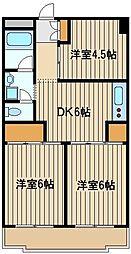 東京都練馬区西大泉2丁目の賃貸マンションの間取り