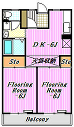ディアコート1号館[3階]の間取り