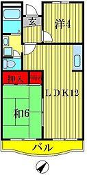 山崎マンション[2階]の間取り