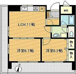 ドムス東梅田[8階]の間取り
