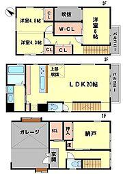 [一戸建] 大阪府豊中市上新田2丁目 の賃貸【/】の間取り