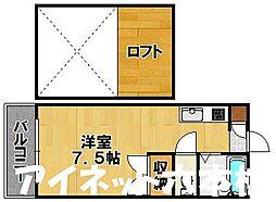 福岡県福岡市城南区神松寺3丁目の賃貸アパートの間取り