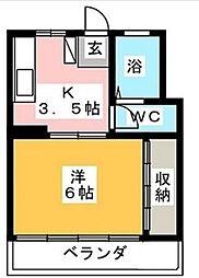 湘南マンション[2-A号室]の間取り