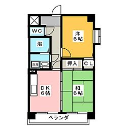 エステート岩塚[8階]の間取り
