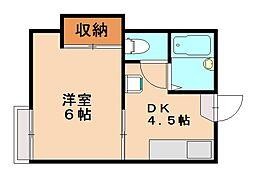 福岡県福岡市城南区鳥飼4丁目の賃貸アパートの間取り