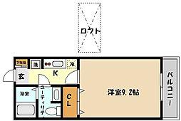 兵庫県神戸市東灘区魚崎南町1丁目の賃貸アパートの間取り