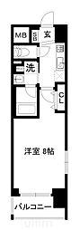 JR山陰本線 梅小路京都西駅 徒歩7分の賃貸マンション 3階1Kの間取り