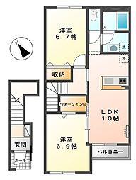 仮)スターテラス寺家新築[2階]の間取り