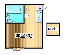 アパートメント大倉NO.6[1階]の間取り