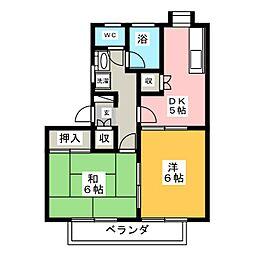 NEW駒形ハイツB[2階]の間取り