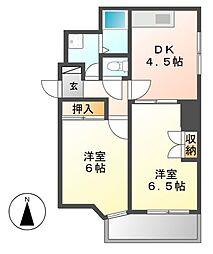 レジデンシア東別院(第7協和ビル)[9階]の間取り