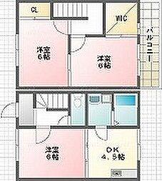 [テラスハウス] 岡山県倉敷市西岡 の賃貸【/】の間取り