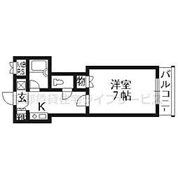 京都府京都市中京区高倉通二条上る天守町の賃貸マンションの間取り