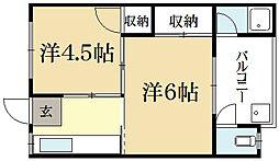 葉山寿荘[2階]の間取り