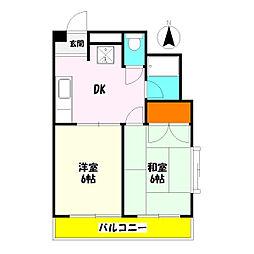 サワーマンション[304号室]の間取り
