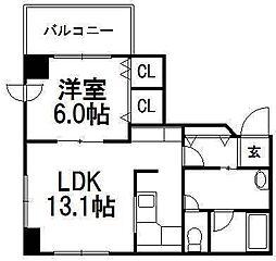 シェ・モア大通[3階]の間取り