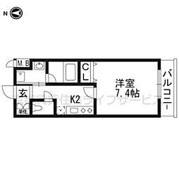 ベラジオ京都壬生イーストゲート[4階]の間取り