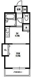 ノルデンハイムリバーサイド十三[3階]の間取り