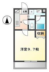 エクセラン[1階]の間取り