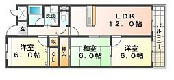 エスパシオ武庫之荘[1階]の間取り